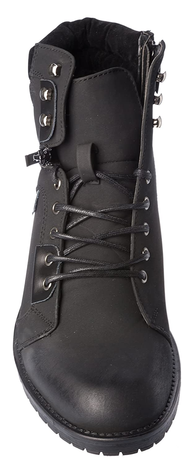 Mens Winter Boots Warm Fur Lining PU-Leather Shoes: Amazon.ca: Shoes &  Handbags