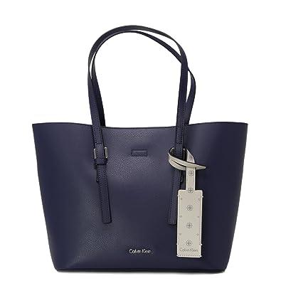 Calvin Klein Damen Tasche Zone Medium Shopper K60k604000 Uni Blau