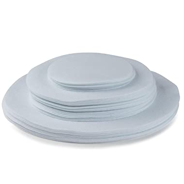 Felt Plate China Storage Dividers Protectors White Extra Large Thick and Premium Soft Set Of 48 12-10.5 , 24-7.5 , 12-5