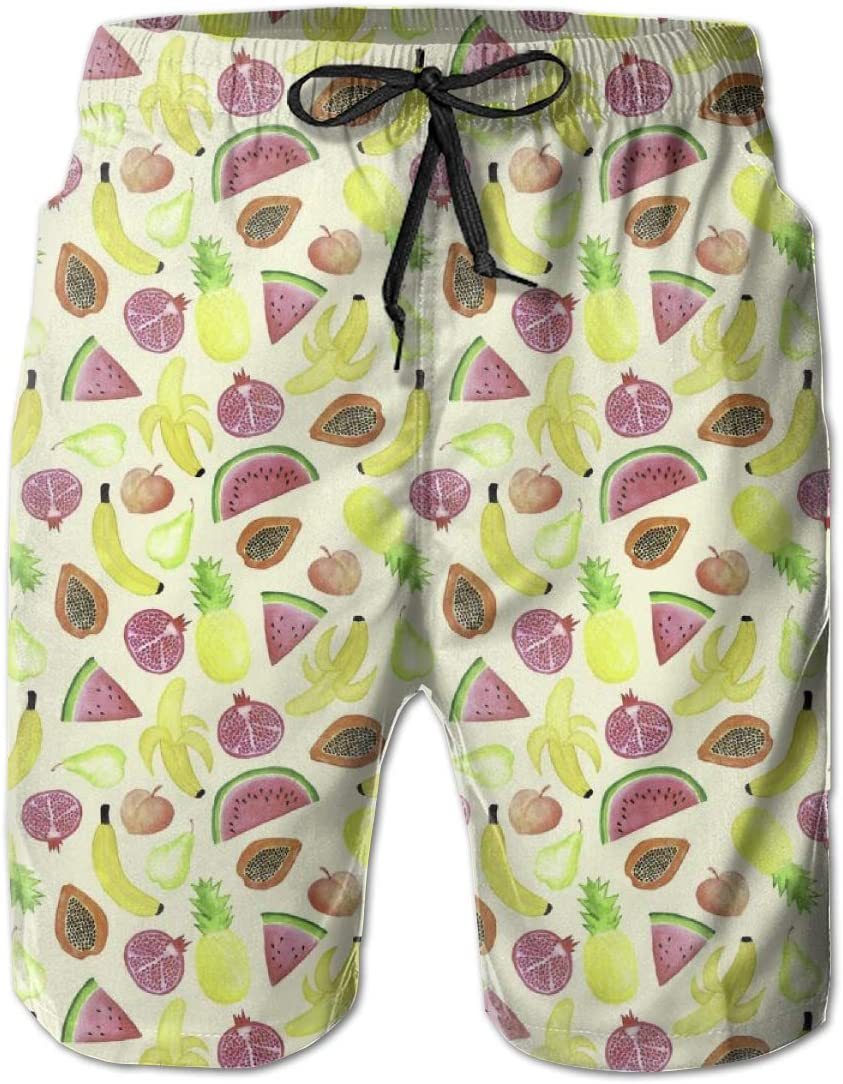 Orange Summer Breathable Quick-Drying Swim Trunks Beach Shorts Board Shorts HZamora/_H Men Tropical Punch