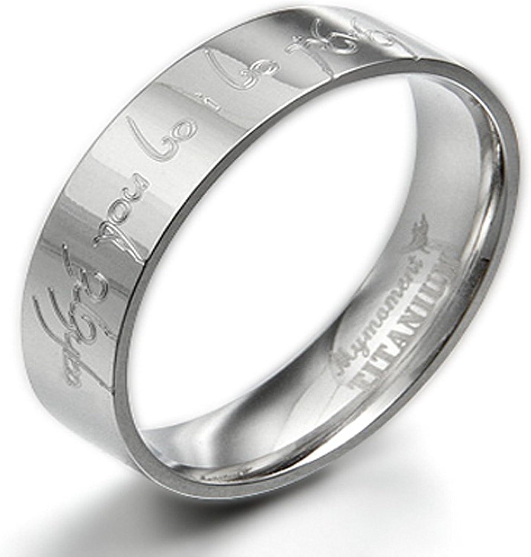 9.5 Women Ring Size 6 Gemini His /& Her Groom /& Bride Plain Flat Court Comfort Fit Matching Wedding Engagement Titanium Rings Set 6mm /& 4mm Width Men Ring Size