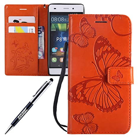 JAWSEU Carcasa Huawei P8 Lite, Funda Libro de PU Cuero ...
