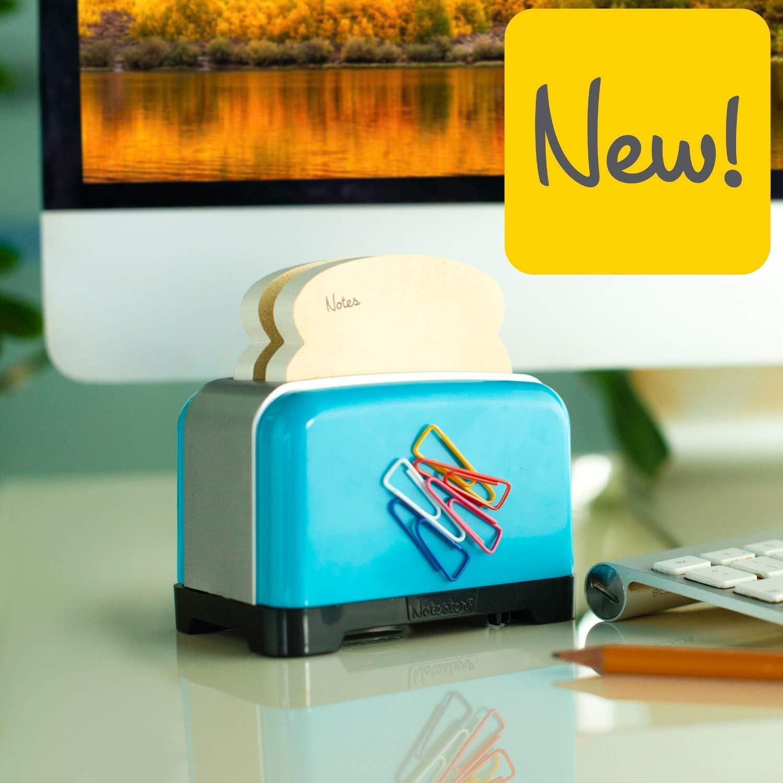 Gifts for Readers /& Writers Notester Neuartig Toaster Haftnotiz Halter Schreibtisch Aufbewahrer Stift Topf Telefon St/änder mit Anspitzer Blau