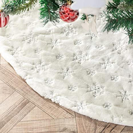 Amidaky Girly Modern Blush Pink Aqua Ombre Dragonflies Christmas Tree Skirt for Christmas Decorations Indoor Outdoor 30/×30