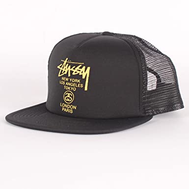 15fc6263415 Stussy - World Tour Trucker Hat in Black