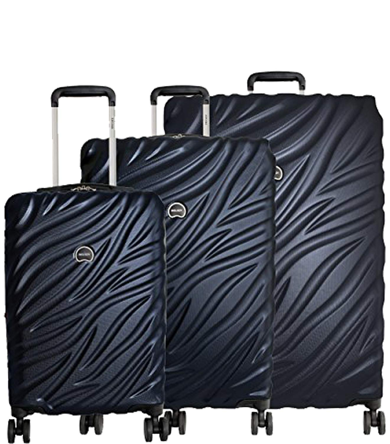 Delsey Paris Alexis 3-Piece Lightweight Luggage Set Hardside Spinner Suitcase with TSA Lock (21