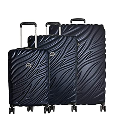 Delsey Paris Alexis Lightweight Luggage Set Hardside Spinner Suitcase with TSA Lock (Navy, 3-piece Set (21 /25 /29 ))