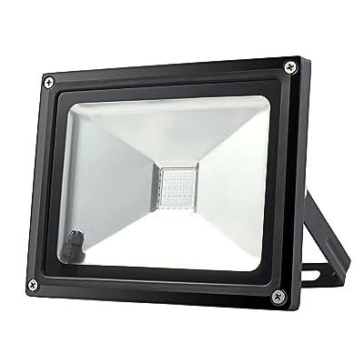 Justech Projecteur Led 20w Lampe Projecteur Led Rgb Lumineux