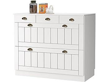 Loft24 Forest Unterschrank Küche Küchenschrank Weiß