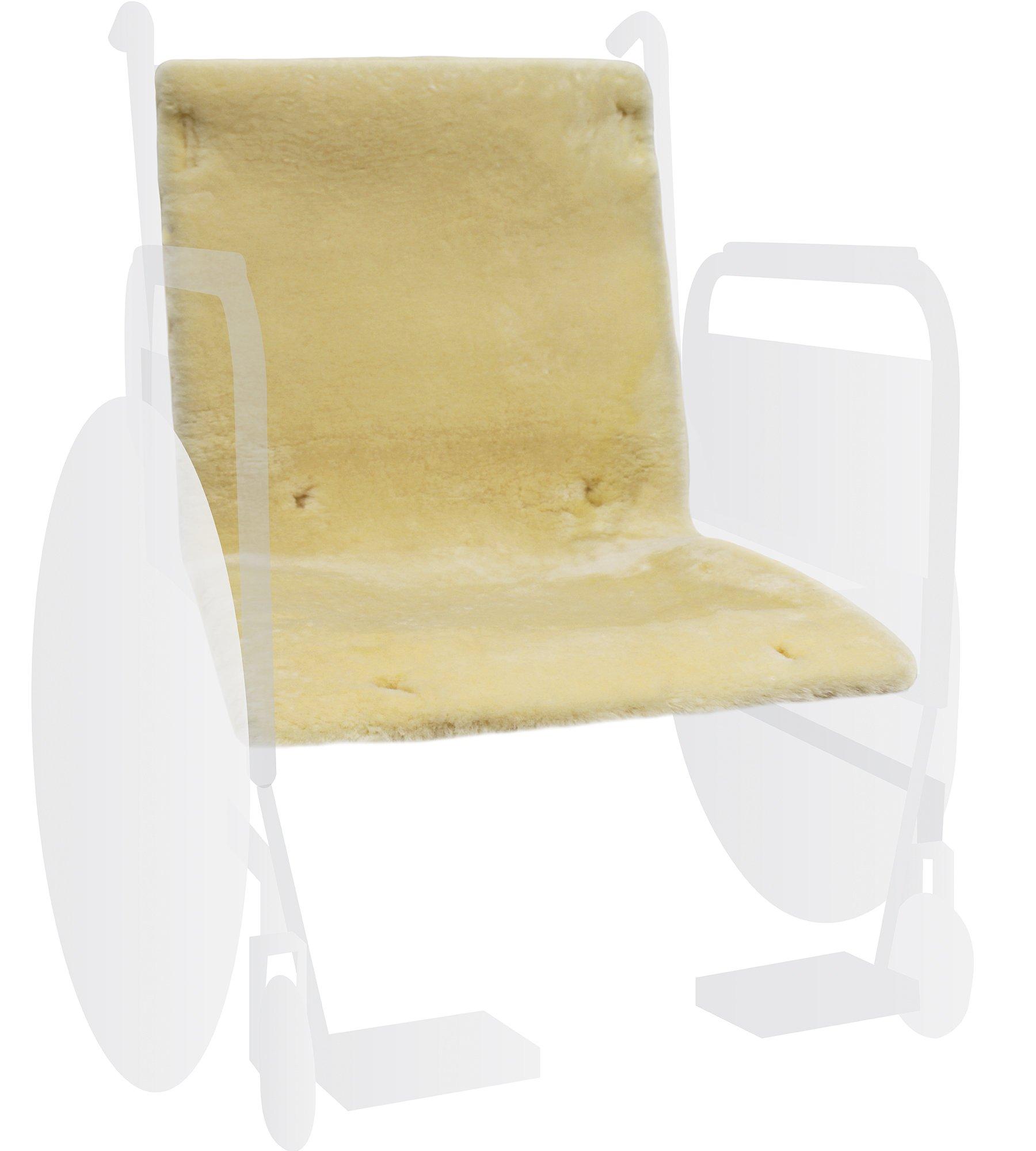 Eurow® Sheepskin Wheelchair Full Seat Cover - Champagne
