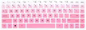 "Silicone Keyboard Cover Skin for HP 14-ab 14-ac 14-ad 14-an Series, 14-ab010 / ab166us 14-ac159nr 14-al062nr 14-an010nr / an013nr / an080nr, 14"" HP Stream 14-ax010nr, HP ENVY 14-j0 Series (Pink Ombre)"