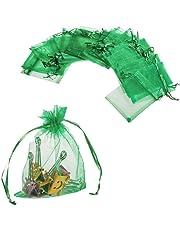 JZK sacchetti sacchettini riso portariso portaconfetti bomboniere organza per matrimonio compleanno battesimo comunione nascita Natale
