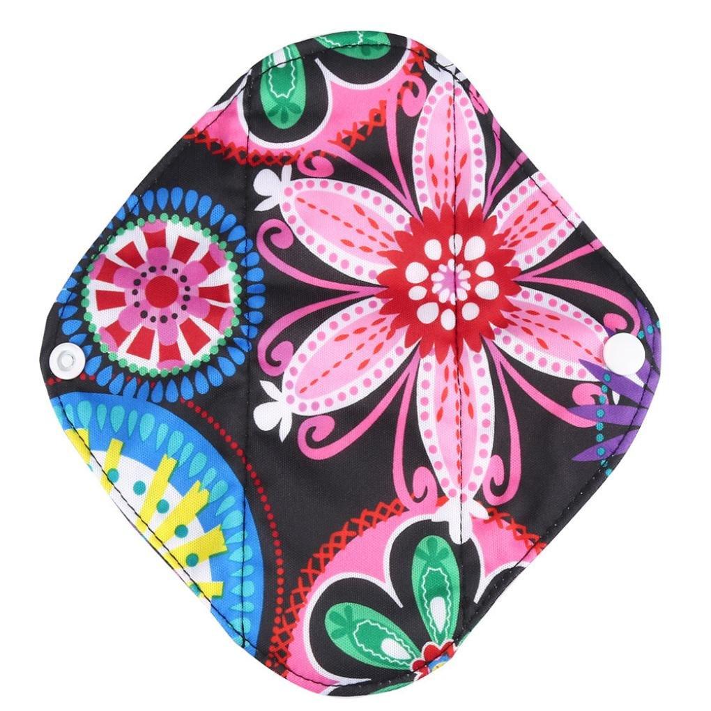 Covermason Reusable Bamboo Cloth Washable Menstrual Pad Mama Sanitary Towel Pad Panty Liner And Pro-Environment Wet Bag (Sanitary Pad Bag, B)