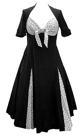 09a7c650b0c Polka Dot Sweetheart Rockabilly Swing Jive Bunny Dress. Size 6-8 Black