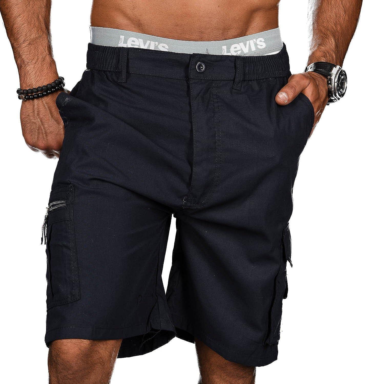 Golden Brands Selection Stylische Herren Sommer Shorts Kurze Hose Bermuda Short Knielang Dehnbund B413