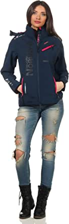 Geographical Norway Romantic Turbo-Dry - Chaqueta para mujer (softshell, con capucha extraíble)