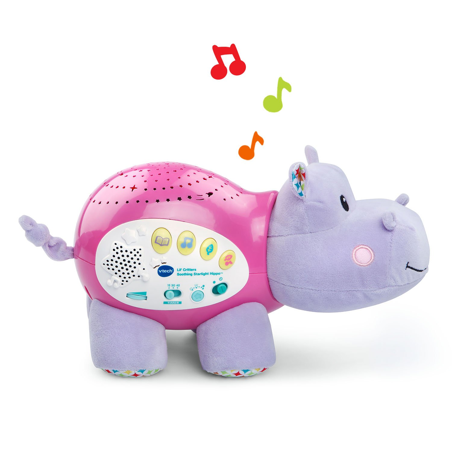 VTech Baby Lil' Critters Soothing Starlight Hippo, Pink (Amazon Exclusive) by VTech (Image #2)
