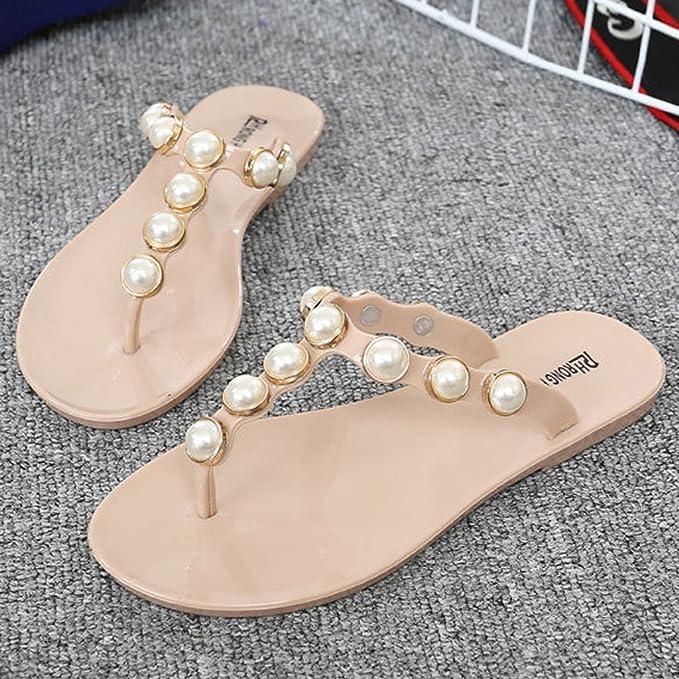 Paillettes Lamdoo Tongs D'été Style Femme Chaussures Fausse