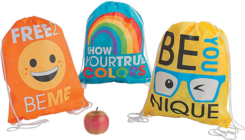 Be You Drawstring Backpacks