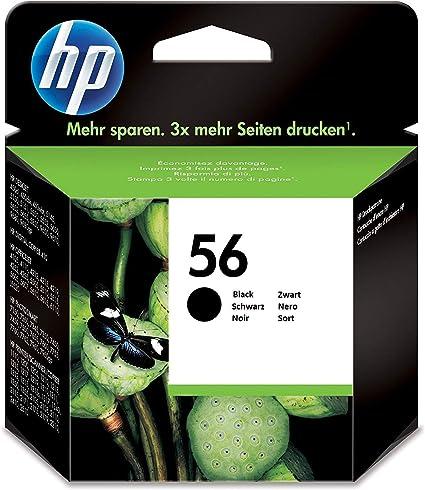 HP C6656AE 56 Cartucho de Tinta Original, 1 unidad, negro: Hp ...