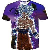 Maglietta Uomo Bambino Maniche Corte Dragon Ball Maglia con Stampa 3D Estate Tees Camicetta Tops Casuale T-Shirt Elegante Blusa Camicia Maglietta da Ragazzo
