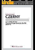 ツェルニー50番練習曲~指使いの技法~【Book1-3】 CZERNY Op.740 3線譜,クロマチックノーテーション
