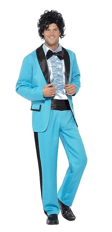 Smiffys Smiffys-43194L Traje del Rey del Baile de los 80, con Chaqueta,