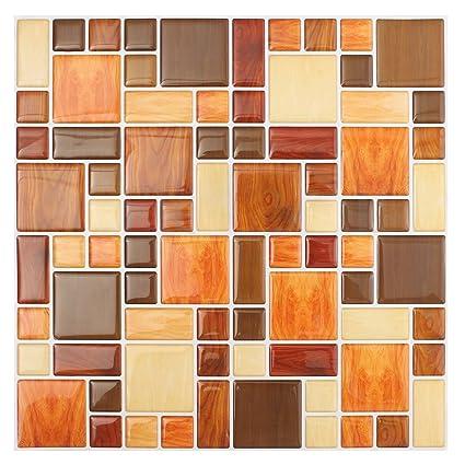 Sodial 3d Tile Mosaic Pattern Wallpaper Modern Wall