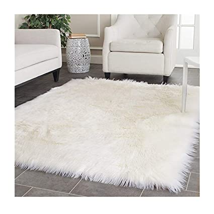 Amazon Com Elhouse Home Decor Soft Mat Square Rugs Faux Fur