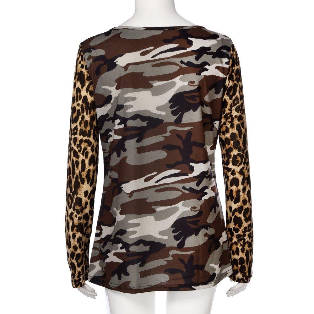 damen t shirt tarn leopard