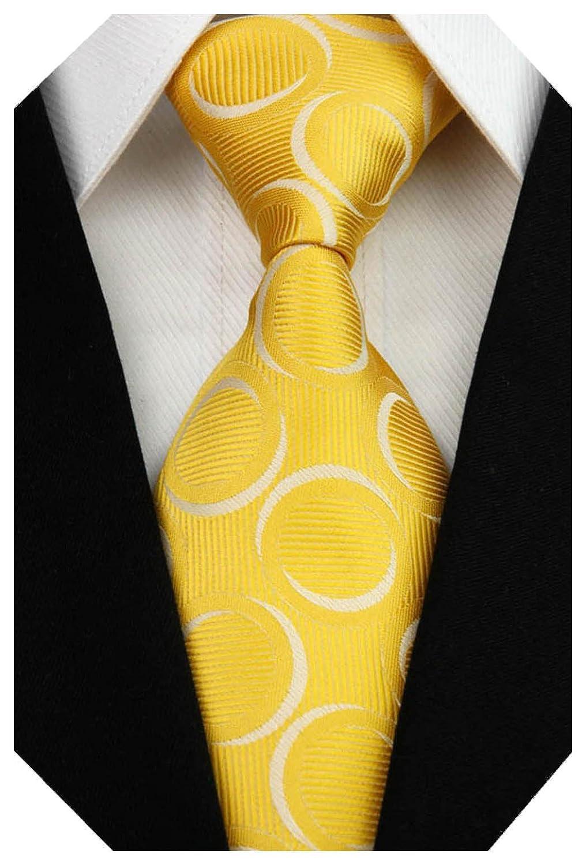 Wehug Men's Classic Silk Tie Woven Necktie Jacquard Neck Ties For Men LD0042