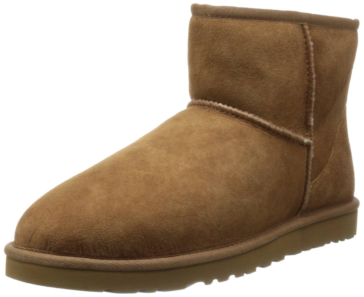 Ugg Men's Classic Mini Winter Boot, Chestnut, 10 US/10 M US
