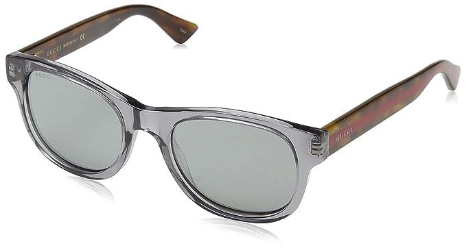 Gucci GG0003S gafas de sol, GREY-AVANA-SILVER, 52 para ...