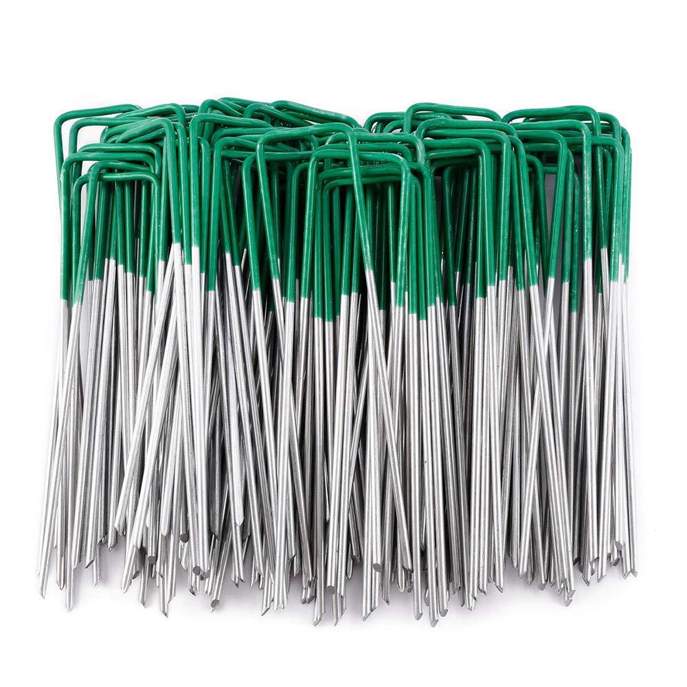 50 Pack Artificial Grass Turf U Pins Galvanised Metal Pegs Staples Weed Garden Bevelled (50 PACK)