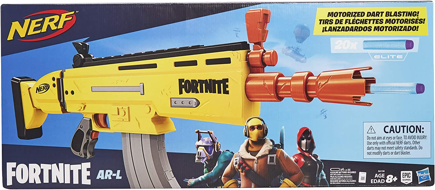 Nerf Fortnite AR-L Blaster Motorised Foam Dart Gun ARL