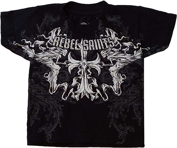 NWT AFFLICTION Rebel Saints T-Shirt Tee Top Womens Medium Short Sleeve