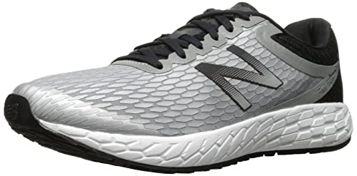 New Balance Mens Fresh Foam Boracay V3 Fitness Shoes, Silver (Metallic  Silver/Black