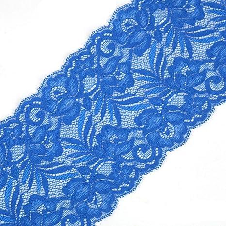 Beige Yalulu 5 Yards Elastizität Spitzenbordüre Band DIY Handwerk Farbband mit Spitzen für Handwerk Dessous Hochzeitskleid Hochzeit Dekor 15cm Breite