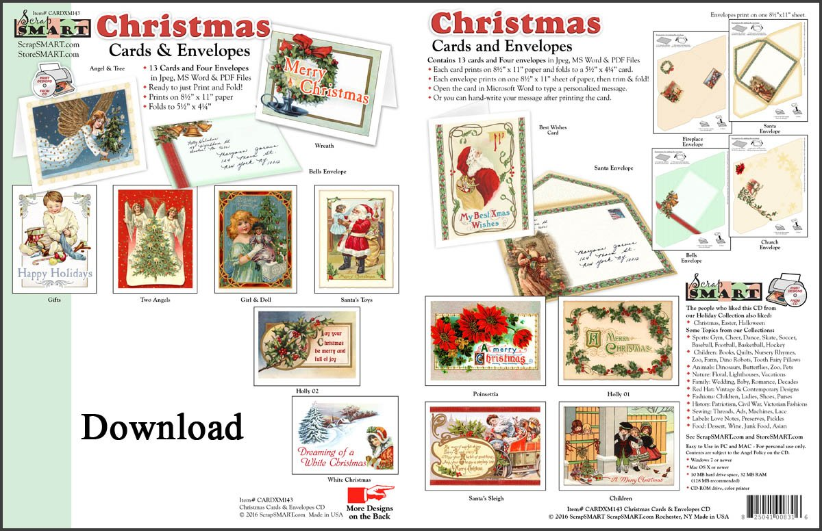 Amazon.com: ScrapSMART - Christmas Cards and Envelopes Software ...
