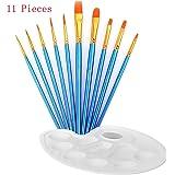 Paint Brush Set Acrylic DREAMZE 11pcs Professional Paint Brushes Artist for Watercolor Oil Acrylic Painting