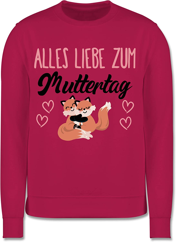 Kinder Pullover Muttertagsgeschenk Tochter /& Sohn Kinder Alles Liebe zum Muttertag mit F/üchsen Shirtracer