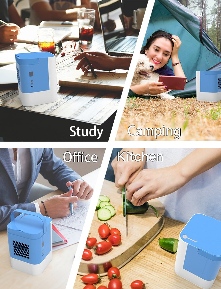 Portable Air Conditioner, Air Conditioner Portable, Quick & Easy Way to Cool Any Space, As Seen On Tv, Suitable for Bedside, Office and Study Room.Three Wind Level Adjustment by Anbber (Image #7)