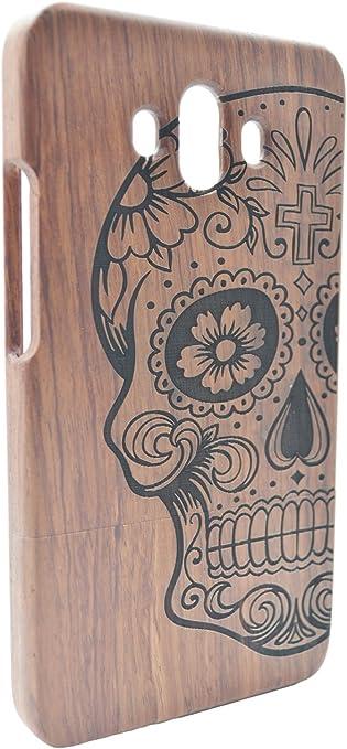 Natural Hecha a mano de Bamb/ú /Árbol de Navidad de palo de Rosa Madera Carcasa Case Cover RoseFlower/® Huawei Mate 10 Funda de Madera