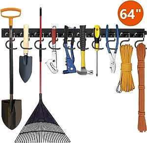 Favbal Garage Storage Wall Hanger 64 Inch,Tool Organization and Storage, Garage Organization, Garden Tool Organizer,Heavy Duty Tools Hanger for Garden, Garage, Laundry Room, Basement, Workshop