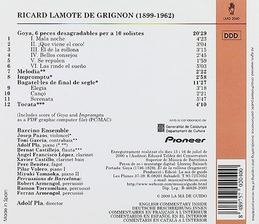 Amazon.com: Grignon: Goya - Six Unpleasant Pieces for 10 ...