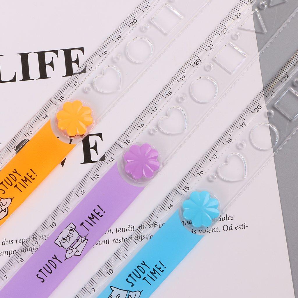 Exing Lineal zuf/ällige Lieferung 30 cm Messger/ät Kawaii Lineal Zusammenklappbar Kunststoff
