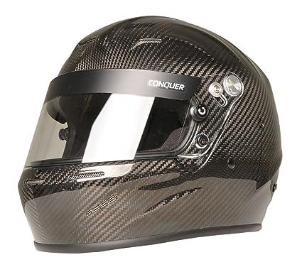 Auto Racing Helmets >> Amazon Com Conquer Carbon Fiber Full Face Auto Racing Helmet Snell
