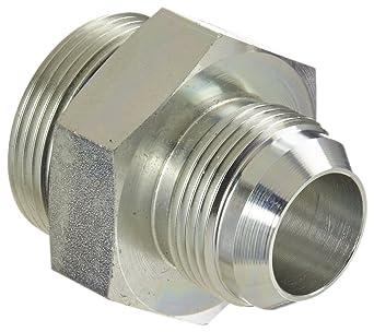 JIC Adapter 1-1//4 Straight Thread O-Ring Boss x 1 JIC Male 1-1//4 Straight Thread O-Ring Boss x 1 JIC Male Flare-Twin Fitting Eaton Weatherhead C5315X16X20 Carbon Steel SAE 37 Degree
