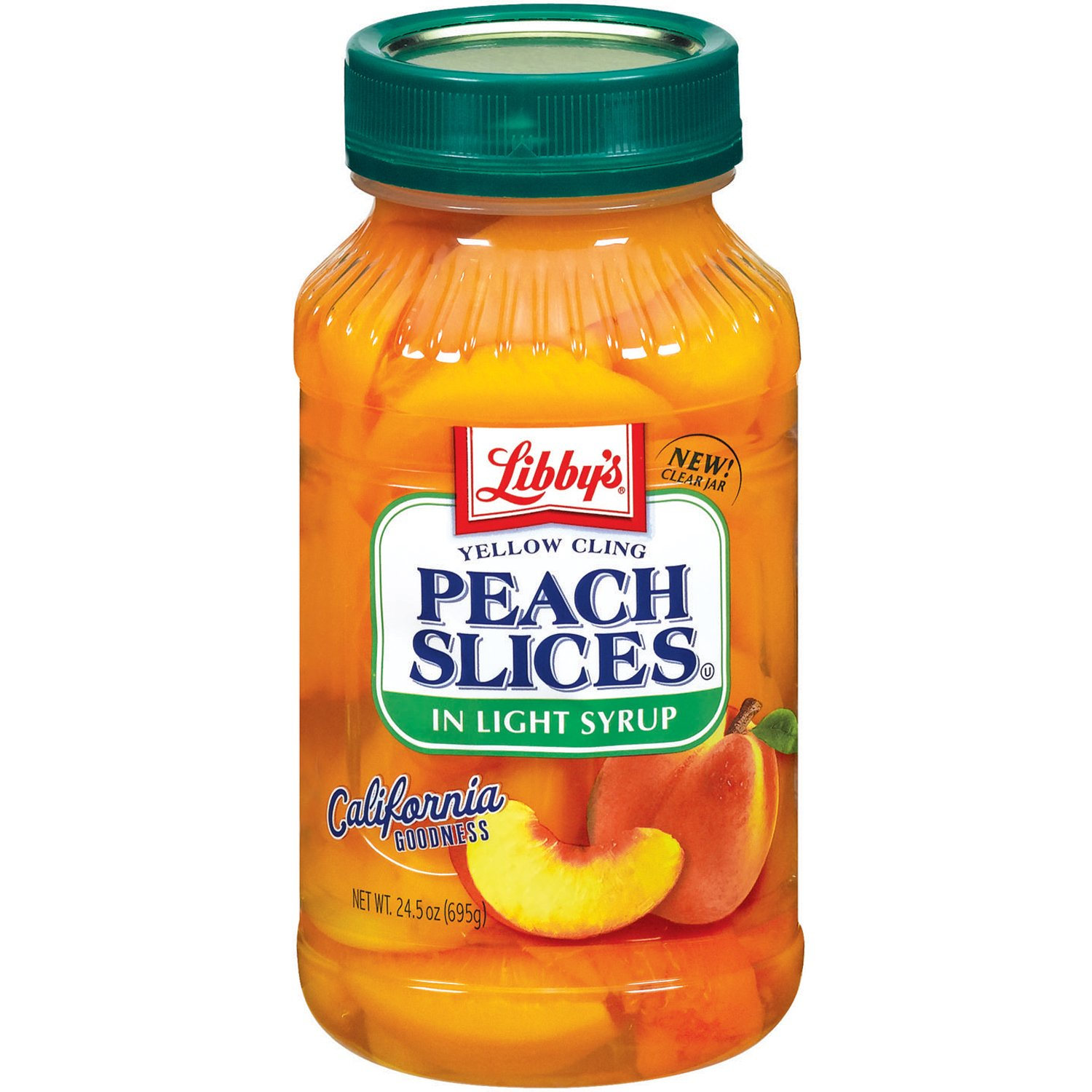 Libby's Peaches Sliced In Light Syrup Jars, 24.5 Ounce (Pack of 8)