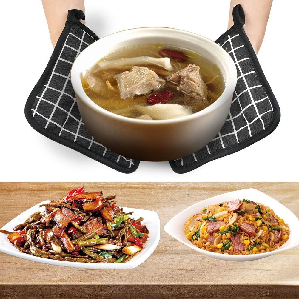 Guanti Isolanti Resistenti al Calore Antiscivolo Grigliare Adatti per Cucinare Set di 4 Guanti da Cucina Cuocere al Forno